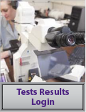 test results login